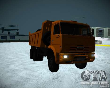 KAMAZ 6520 dump truck for GTA San Andreas left view