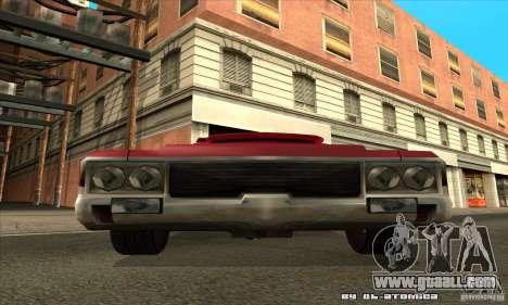 Sabre Drift for GTA San Andreas back view