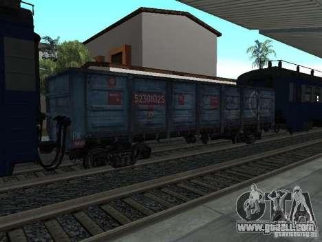 Tem2um-248 + Gondola freight company for GTA San Andreas back view