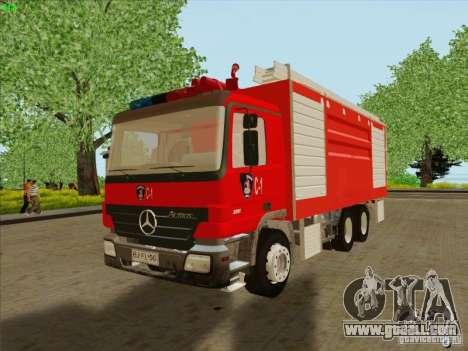 Mercedes Benz Actros Bomberos C1 for GTA San Andreas