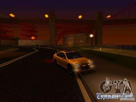 Dodge Neon SRT4 2006 for GTA San Andreas upper view