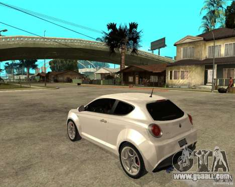 Alfa Romeo Mito for GTA San Andreas left view