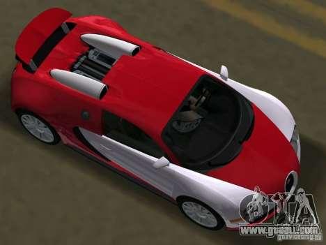 Bugatti Veyron EB 16.4 for GTA Vice City right view