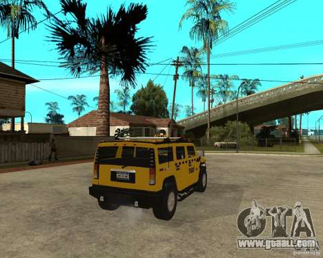 AMG H2 HUMMER TAXI for GTA San Andreas back left view