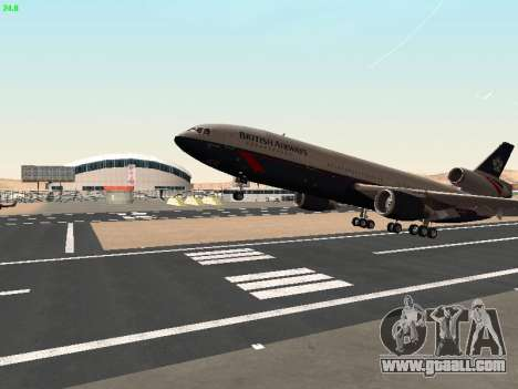 McDonell Douglas DC-10-30 British Airways for GTA San Andreas side view