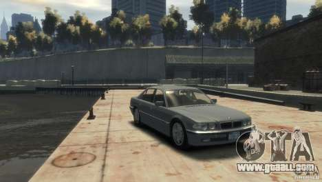 BMW 740i E38 for GTA 4 right view