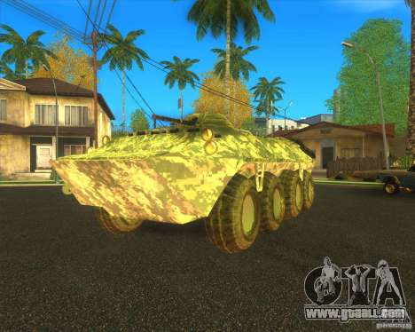 BTR-80 Electronic camouflage for GTA San Andreas back view