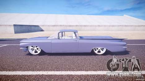 Chevrolet El Camino Custom 1959 for GTA 4 left view