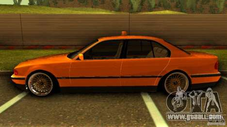 BMW 730i Taxi for GTA San Andreas left view
