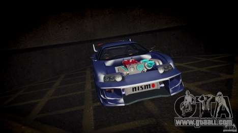 Toyota Supra Tuned for GTA San Andreas inner view