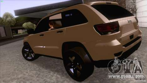 Jeep Grand Cherokee 2012 for GTA San Andreas right view