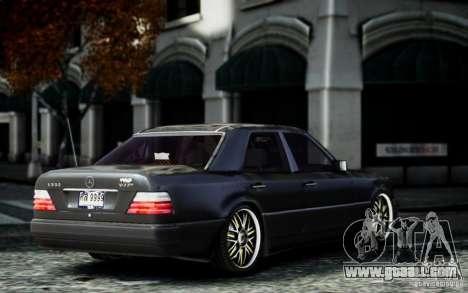 Mercedes Benz E500 for GTA 4 left view