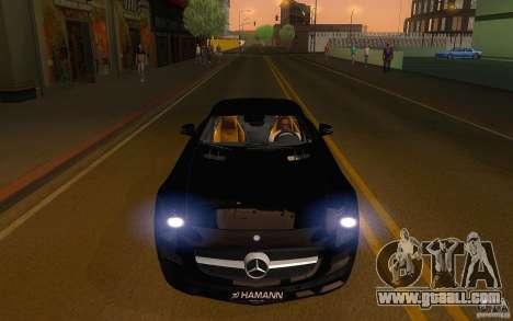 Mercedes Benz SLS HAMANN for GTA San Andreas back view
