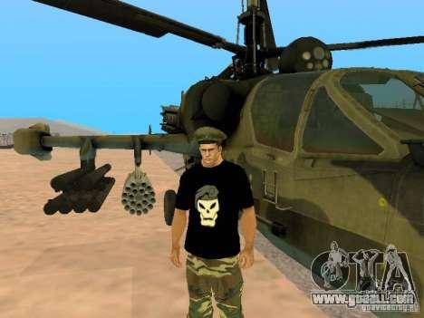 Ka-52 Alligator for GTA San Andreas left view