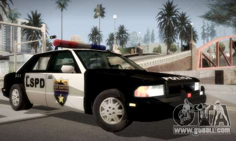 New Police LS for GTA San Andreas back left view