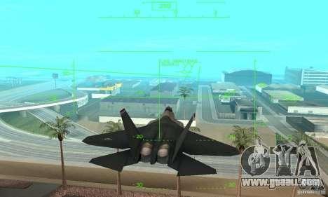YF-22 Standart for GTA San Andreas inner view