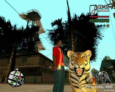 Tiger in GTA San Andreas for GTA San Andreas second screenshot