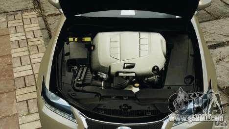 Lexus GS350 2013 v1.0 for GTA 4 bottom view