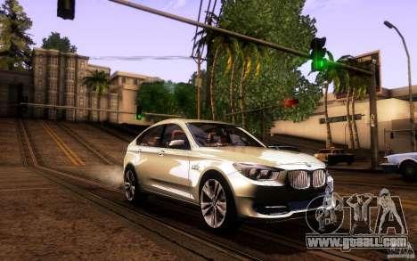 BMW 550i GranTurismo 2009 V1.0 for GTA San Andreas bottom view