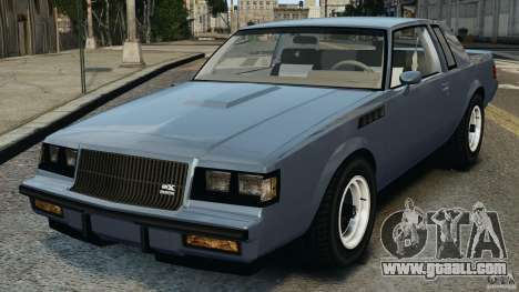 Buick GNX 1987 for GTA 4