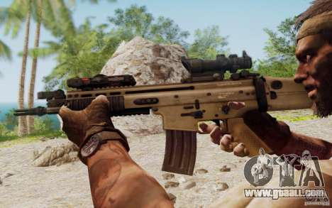 FN Scar L for GTA San Andreas sixth screenshot