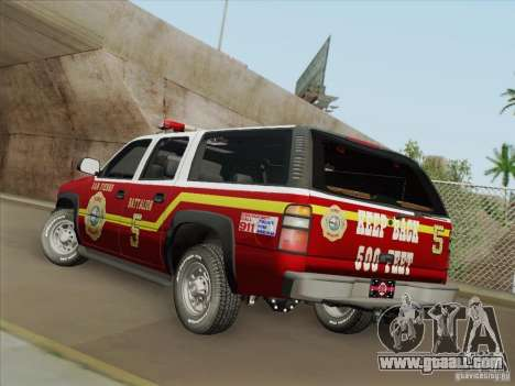 Chevrolet Suburban SFFD for GTA San Andreas engine