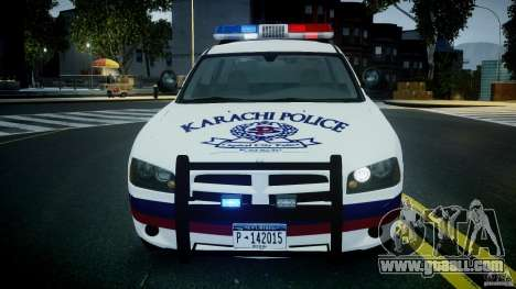 Dodge Charger Karachi City Police Dept Car [ELS] for GTA 4 inner view
