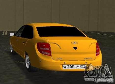 Lada Granta v2.0 for GTA Vice City back left view