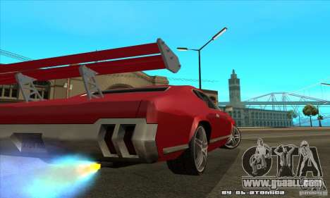 Sabre Drift for GTA San Andreas back left view
