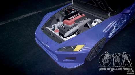 Honda S2000 Tuning 2002 skin 2 calm for GTA 4