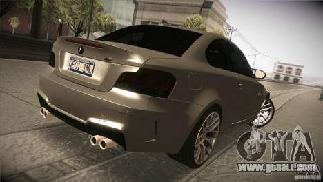 BMW 1M E82 Coupe 2011 V1.0 for GTA San Andreas right view