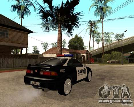 Honda Integra 1996 SA POLICE for GTA San Andreas right view