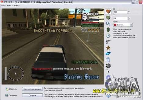 Editor Huda for GTA San Andreas