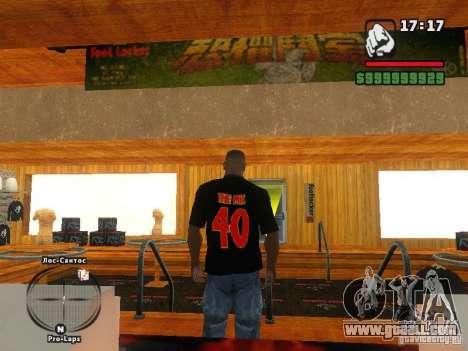 THE MIZ T-shirt for GTA San Andreas second screenshot
