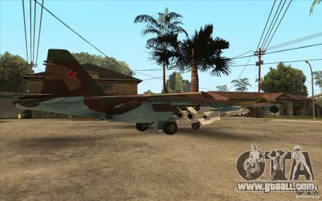 The Su-25 for GTA San Andreas back left view