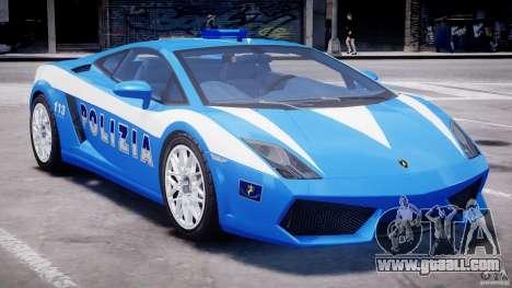 Lamborghini Gallardo LP560-4 Polizia for GTA 4 upper view