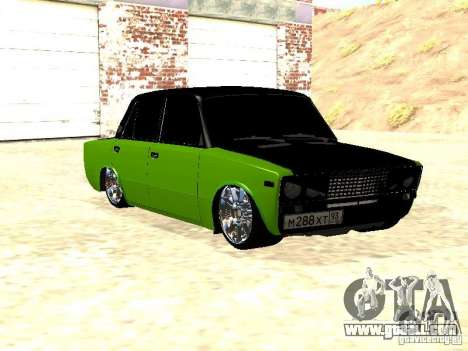 VAZ 2106 HUlK for GTA San Andreas back left view