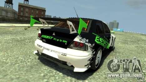 Mitsubishi Lancer Evo IX Tuning for GTA 4 back left view