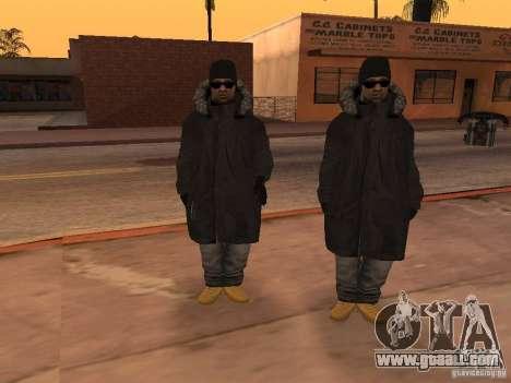 Winter clothes for Ballas for GTA San Andreas forth screenshot
