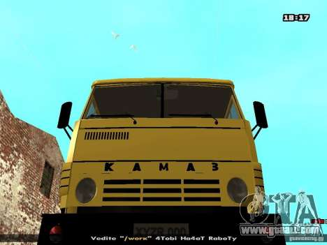 KAMAZ 53112 concrete mixer for GTA San Andreas back view