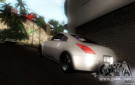 Nissan 350z Speedhunters for GTA San Andreas back left view