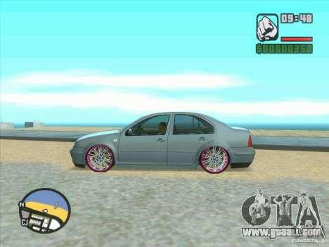 VW Bora Tuned for GTA San Andreas back view