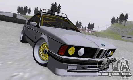 BMW M635CSi Stanced for GTA San Andreas inner view