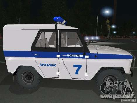 UAZ-31512 Police for GTA San Andreas right view