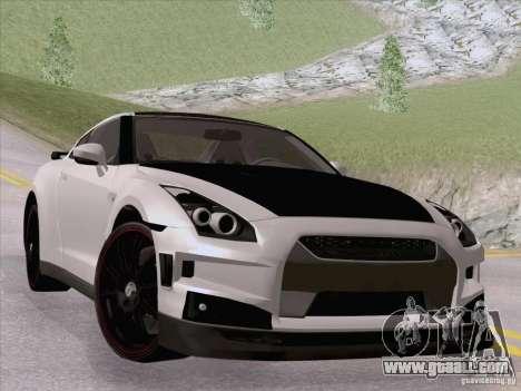 Nissan GTR Edited for GTA San Andreas left view
