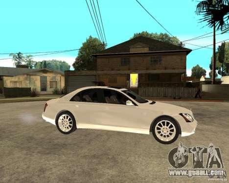 Maybach 57 S for GTA San Andreas right view