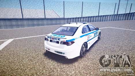 Honda Accord Type R NYPD (City Patrol 7605) ELS for GTA 4 side view