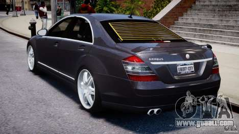 Mercedes-Benz S-Class W221 BRABUS SV12 for GTA 4 back left view