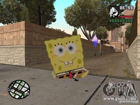Sponge Bob for GTA San Andreas fifth screenshot