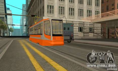 Tramcar 71-623 for GTA San Andreas back left view